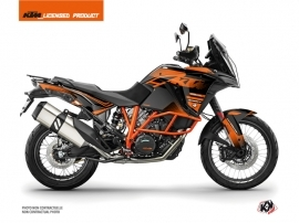 KTM 1290 Super Adventure R Street Bike Raster Graphic Kit Black Orange