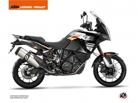 KTM 1290 Super Adventure S Street Bike Raster Graphic Kit Black White