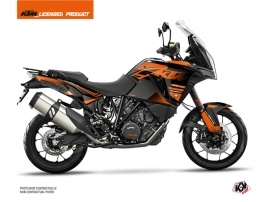 KTM 1290 Super Adventure S Street Bike Raster Graphic Kit Black Orange