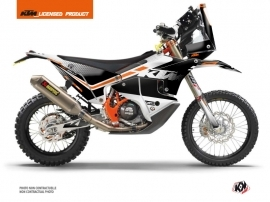 Kit Déco Motocross Raster KTM 450 Rally Noir Blanc