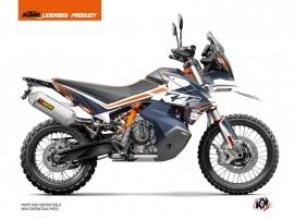 Kit Déco Moto Raster KTM 890 Adventure R Bleu Orange