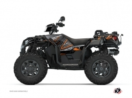 Polaris 1000 Sportsman XP S Forest ATV Redrock Graphic Kit Black Orange