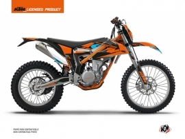 Kit Déco Moto Cross Reflex KTM 350 FREERIDE Orange