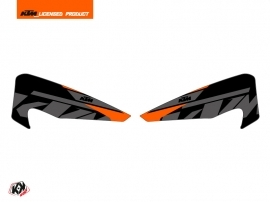 Graphic Kit Hand Guards Stickers Reflex Dirt Bike KTM EXC-EXCF Black