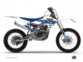 Yamaha 450 YZF Dirt Bike Replica Graphic Kit White Blue