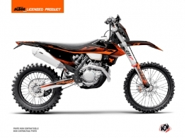KTM EXC-EXCF Dirt Bike Replica Thomas Corsi 2020 Graphic Kit Black Orange