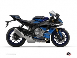 Yamaha R1 Street Bike Replica Graphic Kit Black Blue