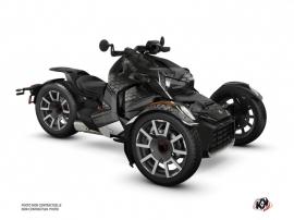 Kit Déco Hybride Replica Can Am Ryker 600 900 Edition Rallye Noir Gris