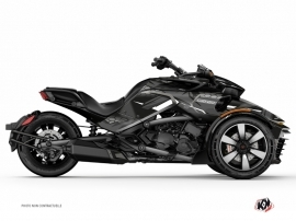 Can Am Spyder F3T Roadster Replica Graphic Kit Black Grey