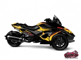 Can Am Spyder RT Roadster Replica Graphic Kit Yellow