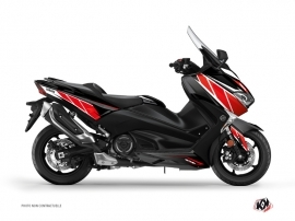 Yamaha TMAX 530 Maxiscooter Replica Graphic Kit Red Black