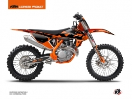 KTM 150 SX Dirt Bike Retro Graphic Kit Orange