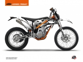 KTM 350 FREERIDE Dirt Bike Retro Graphic Kit Black