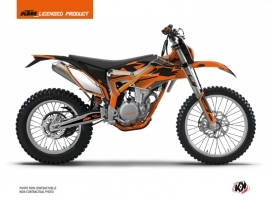 KTM 350 FREERIDE Dirt Bike Retro Graphic Kit Orange