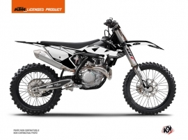 KTM 350 SXF Dirt Bike Retro Graphic Kit Black