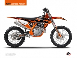 Kit Déco Moto Cross Retro KTM 350 SXF Orange
