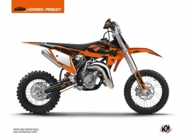 KTM 50 SX Dirt Bike Retro Graphic Kit Orange