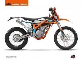 Kit Déco Moto Cross Rift KTM 250 FREERIDE Orange Bleu