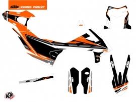 Kit Déco Moto Cross Rift KTM 690 ENDURO R Noir Orange