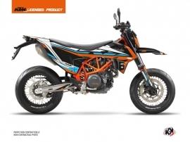 Kit Déco Moto Cross Rift KTM 690 SMC R Orange Bleu