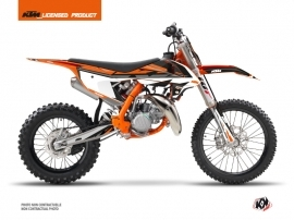 KTM 85 SX Dirt Bike Rift Graphic Kit Black Orange