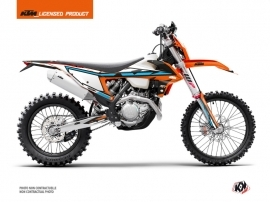KTM EXC-EXCF Dirt Bike Rift Graphic Kit Orange Blue
