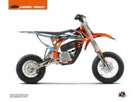 KTM SX-E 5 Dirt Bike Rift Graphic Kit Orange Blue