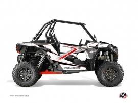 Kit Déco SSV ROCK Polaris RZR 1000 Blanc Rouge