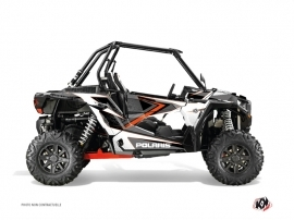 Polaris RZR 1000 UTV Rock Graphic Kit Grey Orange