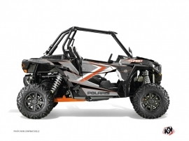 Polaris RZR 1000 Turbo UTV Rock Graphic Kit Orange Grey
