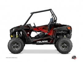 Polaris RZR 900 UTV Rock Graphic Kit Black Red