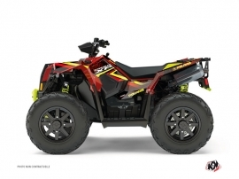 Kit Déco Quad Rock Polaris Scrambler 850-1000 XP Rouge Jaune