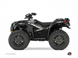 Polaris 1000 Sportsman XP Forest ATV Rock Graphic Kit Grey