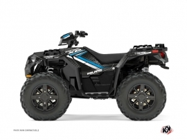 Polaris 1000 Sportsman XP Forest ATV Rock Graphic Kit Black Blue