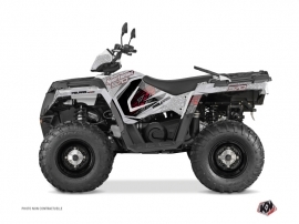 Kit Déco Quad Rock Polaris 570 Sportsman Touring Gris Rouge