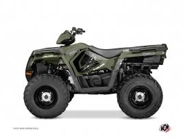 Polaris 570 Sportsman Touring ATV Rock Graphic Kit Green