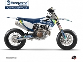 Husqvarna 450 FS Dirt Bike Rocky Graphic Kit Blue