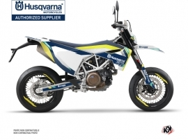 Husqvarna 701 Supermoto Dirt Bike Rocky Graphic Kit Blue
