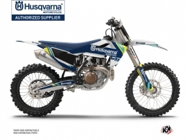 Husqvarna TC 125 Dirt Bike Rocky Graphic Kit Blue