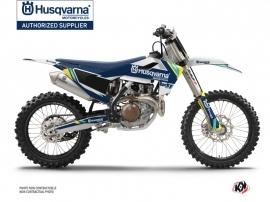 Kit Déco Moto Cross Rocky Husqvarna TC 125 Bleu