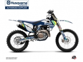 Husqvarna FC 450 Dirt Bike Rocky Graphic Kit Blue