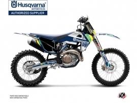 Husqvarna TC 125 Dirt Bike Rocky Graphic Kit Blue