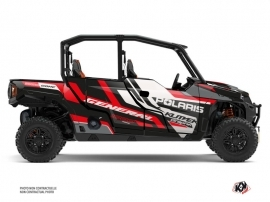 Polaris GENERAL 1000 4 doors UTV Root Graphic Kit Red  Black