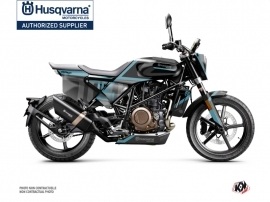 Husqvarna Svartpilen 701 Street Bike Sekment Graphic Kit Black Blue