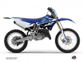 Yamaha 125 YZ Dirt Bike Skew Graphic Kit Blue