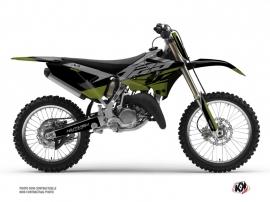 Yamaha 125 YZ Dirt Bike Skew Graphic Kit Kaki