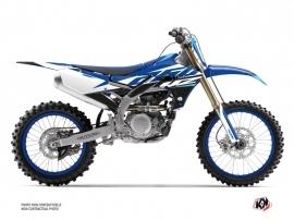 Yamaha 250 YZF Dirt Bike Skew Graphic Kit Blue