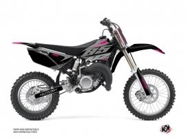 Yamaha 85 YZ Dirt Bike Skew Graphic Kit Pink
