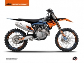 KTM 250 SX Dirt Bike Skyline Graphic Kit Blue