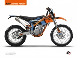 Kit Déco Moto Cross Skyline KTM 350 FREERIDE Bleu